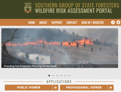 Southern Wildfire Risk Assessment Portal