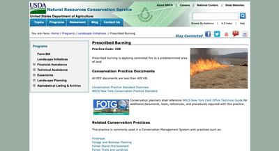 NRCS Prescribed Burning