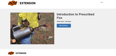 OSU: Introduction to Prescribed Fire