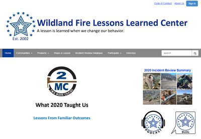 Wildland Fire Lessons Learned Center