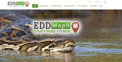 EDDMapS: Early Detection and Distribution Mapping System