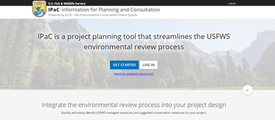 Information for Planning and Consultation (IPaC): project planning to streamline environmental review