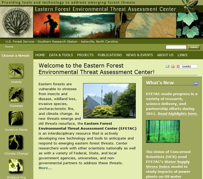 Eastern Forest Environmental Threat Assessment Center