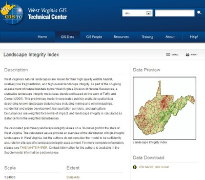 West Virginia GIS Clearinghouse Application