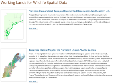 Working Lands for Wildlife Spatial Data