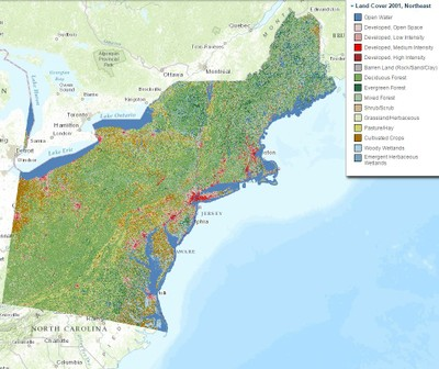 Land Cover, 2001, Northeast