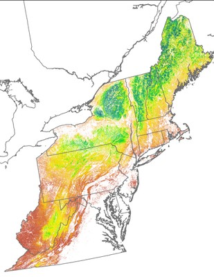 Landscape Capability for Ruffed Grouse, Version 2.0, Northeast