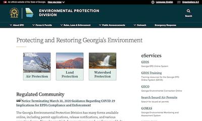 Georgia Environmental Protection Division