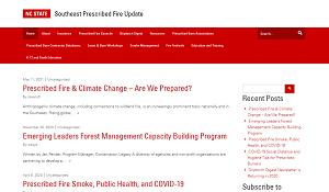 North Carolina State Southeast Prescribed Fire Update