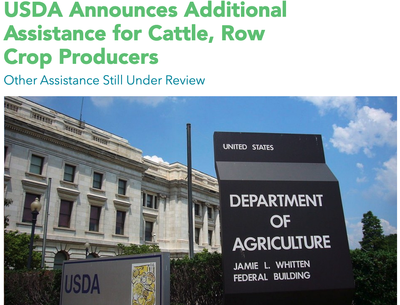 USDA Announces Additional Assistance for Cattle, Row Crop Producers