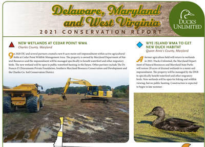 Ducks Unlimited: Delaware, Maryland, and West Virginia 2021 Conservation Report