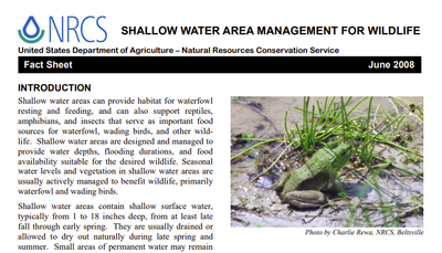 Maryland Shallow Water Area Fact Sheet