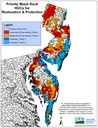 Map of Priority Areas for WLFW-Black Duck Projects