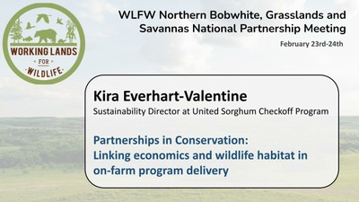 Partnerships in Conservation: Linking economics and wildlife habitat in on-farm program delivery: Kira Everhart-Valentine