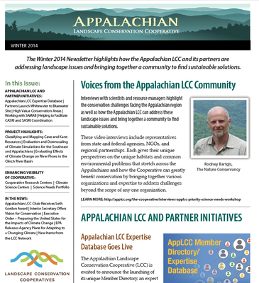 Appalachian LCC Winter Newsletter