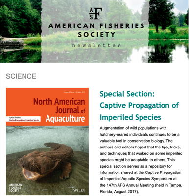 American Fisheries Society News November 15, 2019