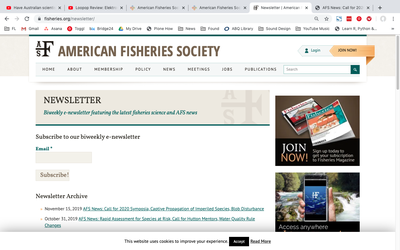 American Fisheries Society Newsletter