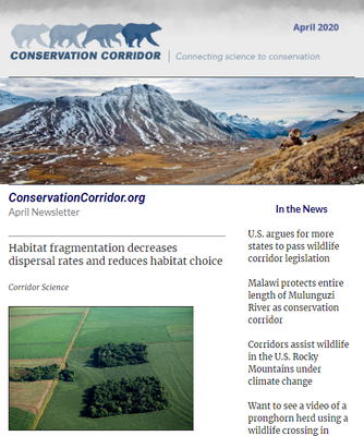 Conservation Corridor April 2020 Newsletter