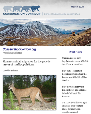 ConservationCorridor.org March 2020 Newsletter