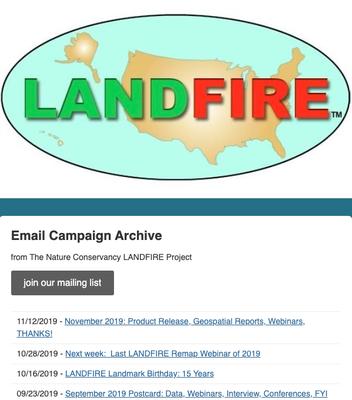 Landfire Bulletin Newsletters