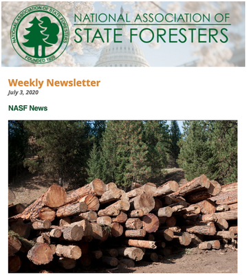 National Association of State Foresters Weekly Newsletter July 3, 2020