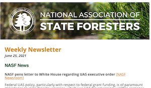 National Association of State Foresters Weekly Newsletter June 25 2021