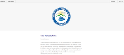 Tennessee River Basin Network Newsletter November, 2019