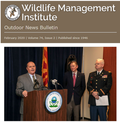 Wildlife Management Institute Outdoor News Bulletin February 2020