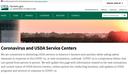 Coronavirus and USDA Service Centers