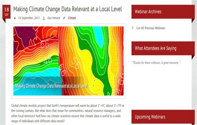 Highly anticipated down-scaled climate data to be released this winter