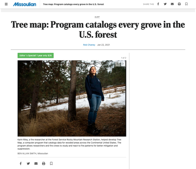 Tree map: Program catalogs every grove in the U.S. forest